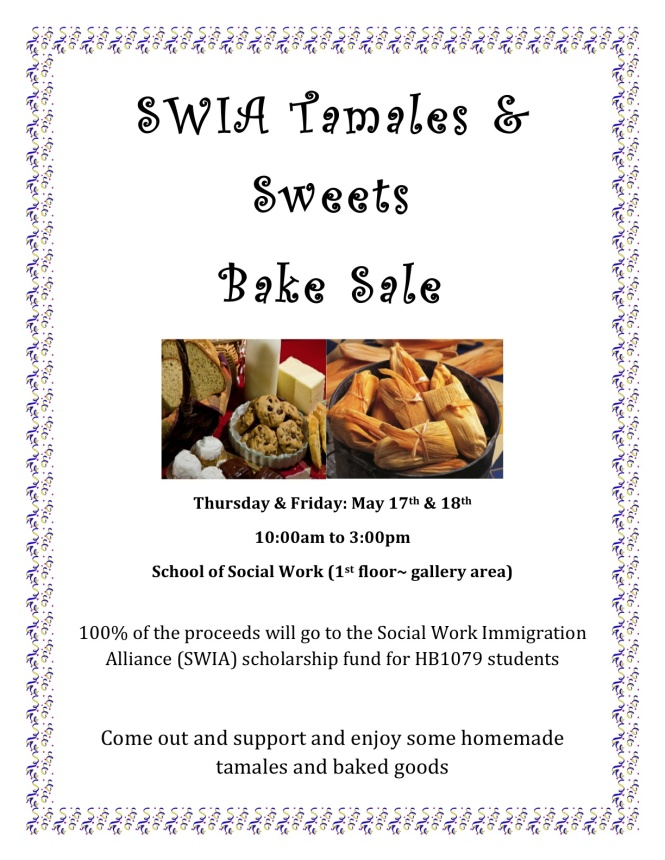 SWIA TAMALES & SWEETS BAKE SALE